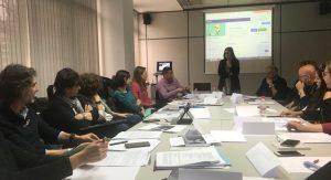 Ana López Ramos impartiendo la segunda sesión de formación sobre acoso laboral o mobbing