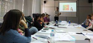 Germán Cañavate impartiendo la tercera sesión sobre evaluación del acoso laboral a través del Leymann, EBVA y EBAL