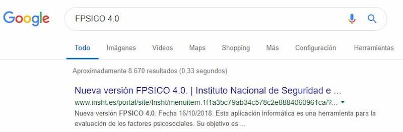 Encontrar programa FPSICO 4.0