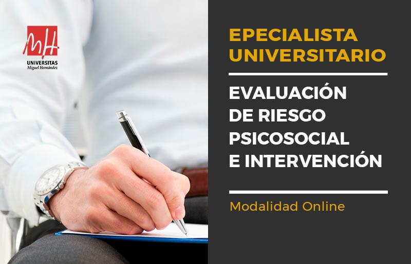 Curso de especialista universitario en evaluación e intervención psicosocial